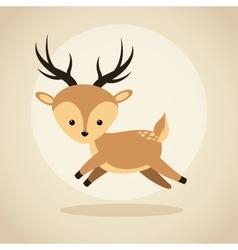 Reindeer cartoon icon Woodland animal vector image