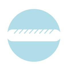 sausage fast food icon vector image