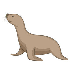 Seal animal icon cartoon style vector