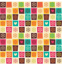Seamless patterns with colorful squares vector image