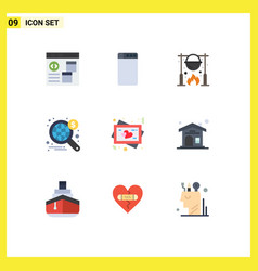 Set 9 commercial flat colors pack for heart vector