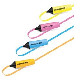 Set of highlighter pen vector