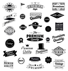 Set of vintage styled design logo icons and banner vector