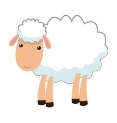 Sheep cartoon icon vector