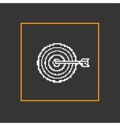 Simple stylish pixel icon darts design vector image