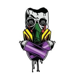 Skull Graffiti vector