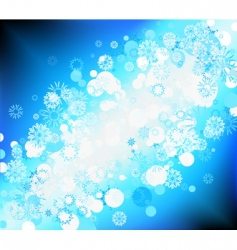 snow flake background vector image
