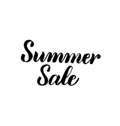 summer sale handwritten calligraphy vector image
