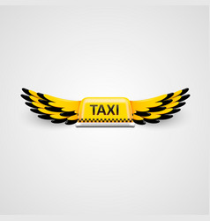 taxi business logo flying taxi concept vector image