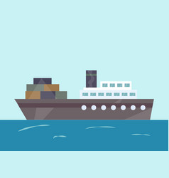 tugboat water isolated vector image