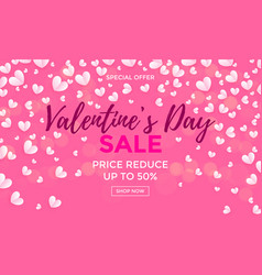 valentines day sale poster or banner vector image