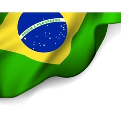 Waving flag of Brazil South America vector