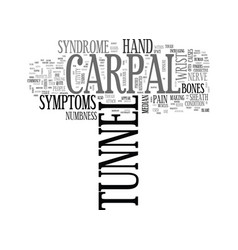 what is carpal tunnel text word cloud concept vector image