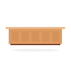 wooden shop and restaurant counter flat isolated vector image