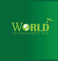 world environment day world environment day vector image