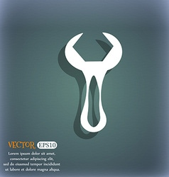 wrench icon On the blue-green abstract background vector image