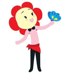 flower head character vector image vector image