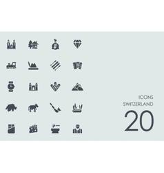 Set of Switzerland icons vector image