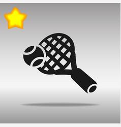 tennis black icon button logo symbol vector image