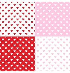 Valentines seamless patterns vector image vector image