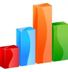 3d color bar graph histogram vector image