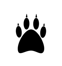 black paw icon isolated on white background vector image