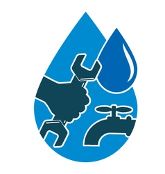 Repair plumbing and water supply systems vector