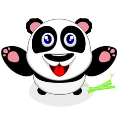 Baby Panda Laughing vector image vector image