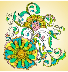 color flower vector image vector image