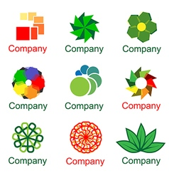 Company colorful logo set vector image vector image