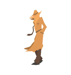 disguised detective character searching private vector image