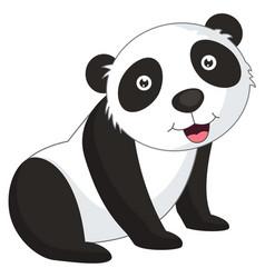 of cartoon panda vector image