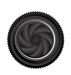 black camera lens close icon vector image