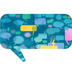 communication bubbles design vector image vector image