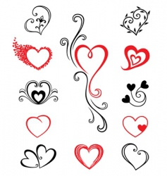 hearts tattoo vector image vector image