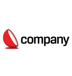 luxury design furniture logo vector image