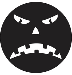 Scary face of halloween vector