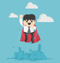 super business of super leader to success vector image