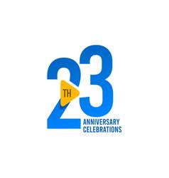 23 years anniversary celebration template design vector