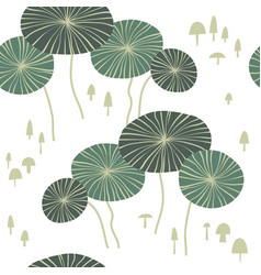 abstract seamless pattern with oval floral shape vector image