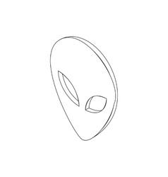 Alien head icon isometric 3d style vector
