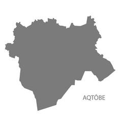 Aqtobe kazakhstan map grey vector