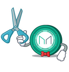 Barber maker coin character cartoon vector