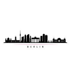 berlin city skyline horizontal banner vector image