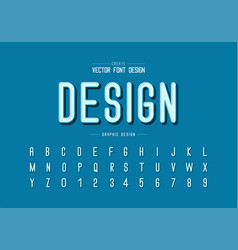 black shadow font and alphabet letter style vector image