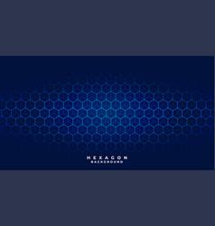 Blue tech hexagonal pattern background design vector