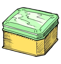 Box for tea vector image