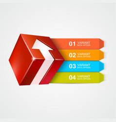 box with arrow infographics concept vector image