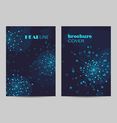 brochure template layout design abstract vector image