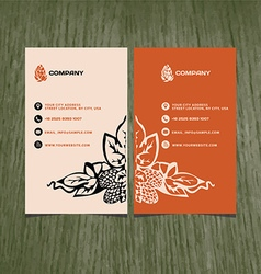 business card beer company vector image